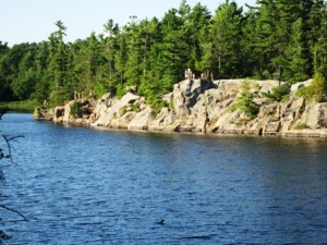 "Grundy Lake Provincial Park: Gut Lake ""Jumping Cliffs"""