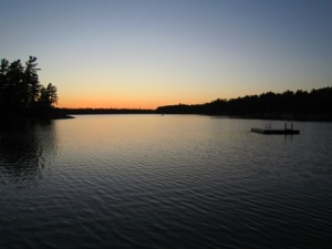 Grundy Lake Provincial Park: Red Maple Beach Sunset